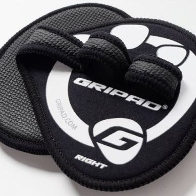 Gripad Black Workout Gloves Front and Back