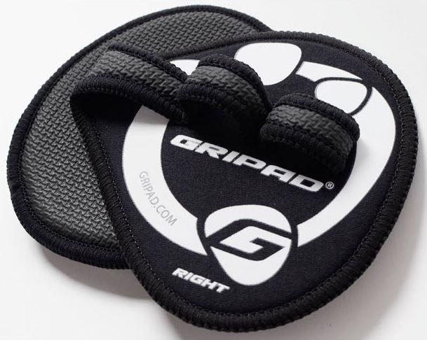Gripad Black Workout Gloves Front and Back