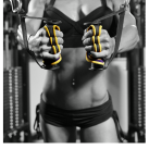 Gripad Workout Gloves at the Gym