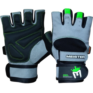 Meister Weight Lifting Gloves Wrist Wrap Gel