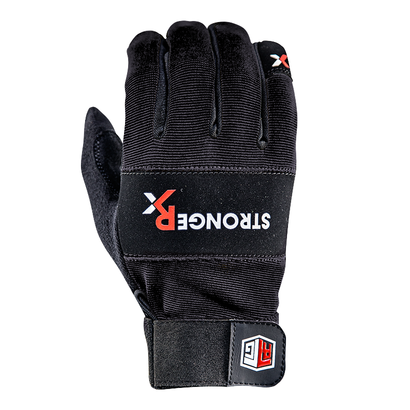 Xcrossfit Weight Lifting Gloves: STRONGER RX BLACK CROSSFIT GLOVES
