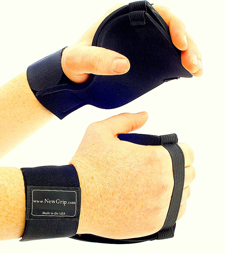 ThickGrip Gloves For Weight Lifting Front and Back