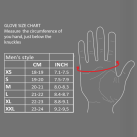 Weight Lifting Gloves Sizing Chart