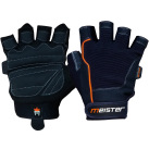 Meister Weight Lifting Gloves for CrossFit orange and black, front and back view