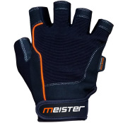 Meister MMA Weight Lifting Glove top view orange and black