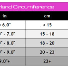 Meister MMA Women's Weight Lifting Gloves Sizing Chart