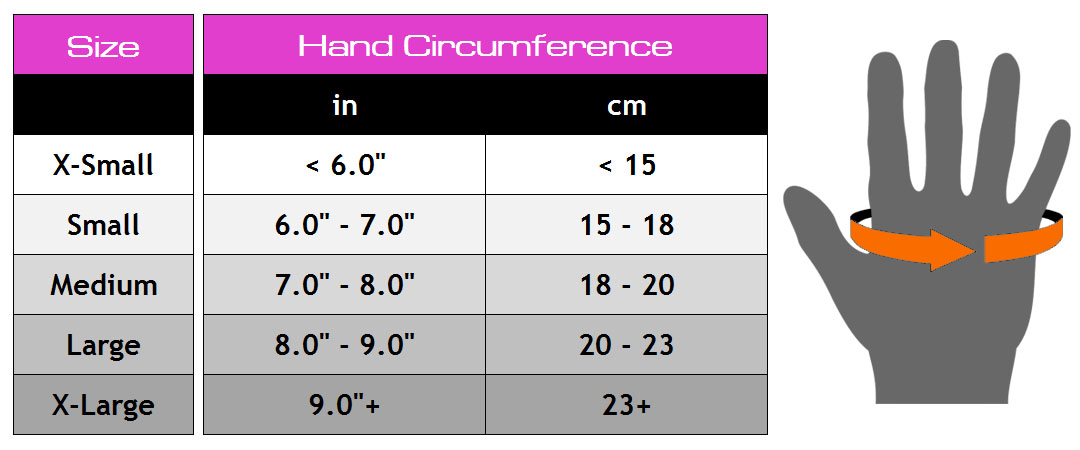 Glove sizes womens
