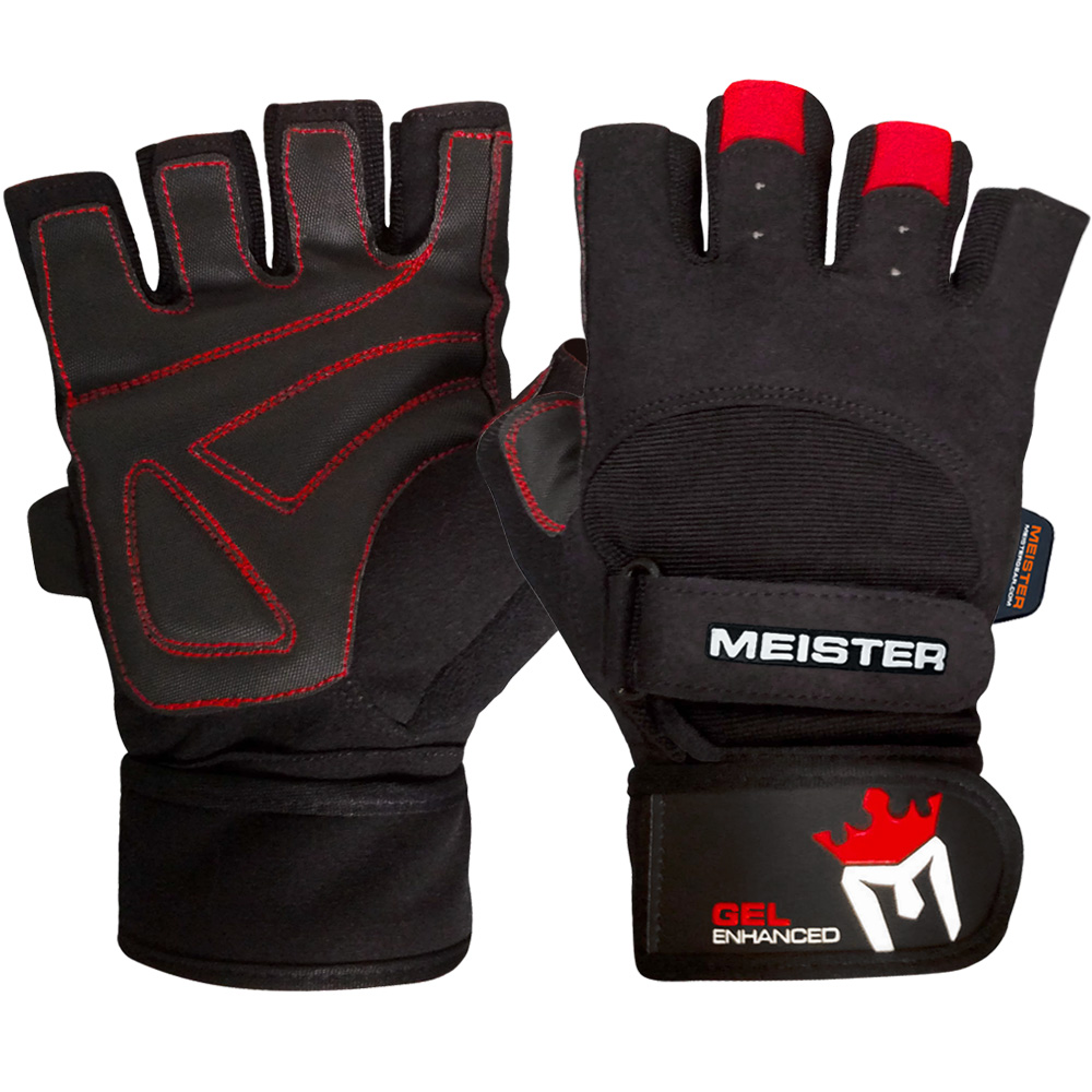 Fitness Gloves New Zealand: Meister Weight Lifting Gloves With Wrist Support