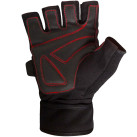Meister Weight Lifting Gloves With Wrist Support Black and Red
