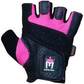 Mma Meister Weight Lifting Gloves Ladies Fit Pink & Black