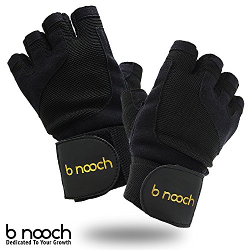 B Nooch Workout Gloves W Wrist Support Weight Lifting Gloves
