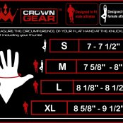 Crown Gear Sizing Chart