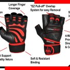 Crown Gear Weight Lifting Gloves Diaram