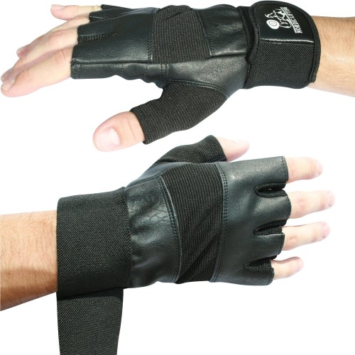 Gym Gloves Weight Lifting Leather Workout Wrist Support: Nordic Lifting Gym Gloves W/Wrist Support