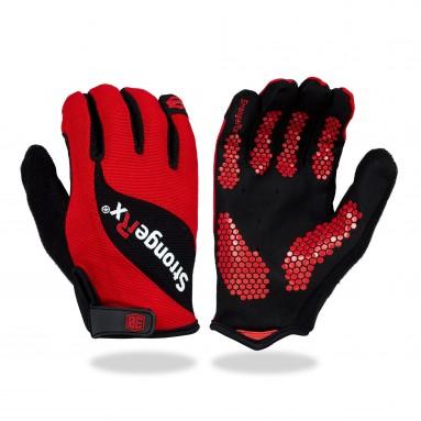 StrongerRx 3.0 Gloves for WODs Red Pair