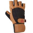 Valeo Ocelot Wrist Wrap Lifting Gloves Tan