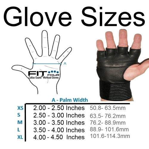 Workout Gloves Size Chart: Fit Four Spartan Grip®
