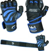 Grip Power Pads Elite Gym Gloves with Wrist Support pair