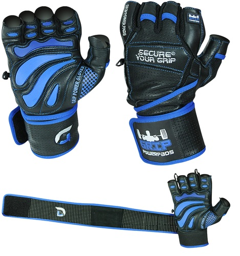 Fitness Gloves Com: Grip Power Pads Elite Gym Gloves W/Wrist Support