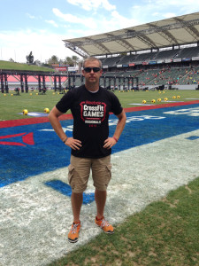 James at the CrossFit Games