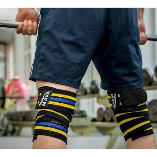 Mava Fitness Gloves: Mava Weight Lifting Knee Wraps