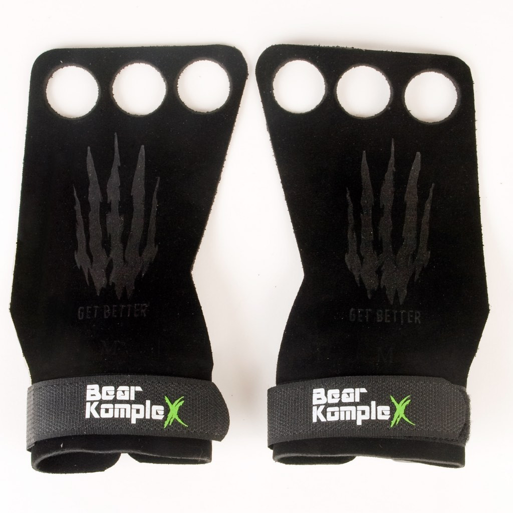 Bear Komplex Leather Grips Weight Lifting Gloves