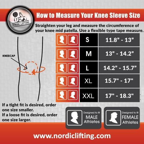 6488841036 ... Leg Press Nordic Lifting Knee Sleeves Sizing Chart