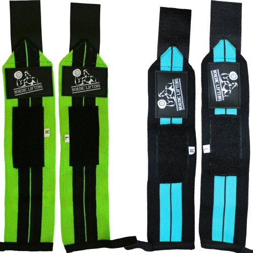Nordic Wrist Support Wraps Green & Blue