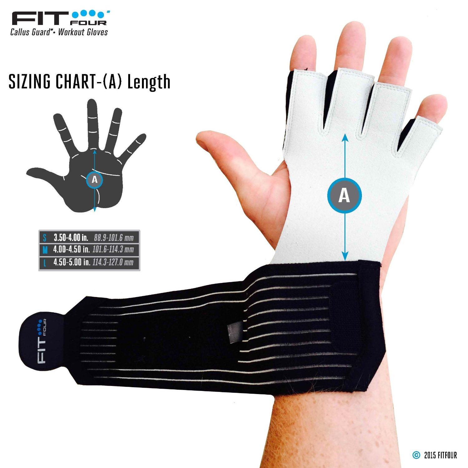 Workout Gloves Size Chart: Fit Four Gymnastics Grips