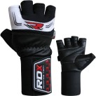 RDX Leather Lifting Gloves Front and Back