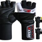 RDX Leather Weight Lifting Gloves w 3.5 Wrist Support