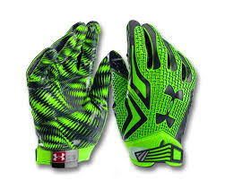 Under Armour Swarm Football Gloves Green Pair ...