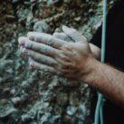 lifting rock climbing chalk
